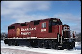 CP GP38-2 3031 (17.12.2007, Smiths Falls, ON)