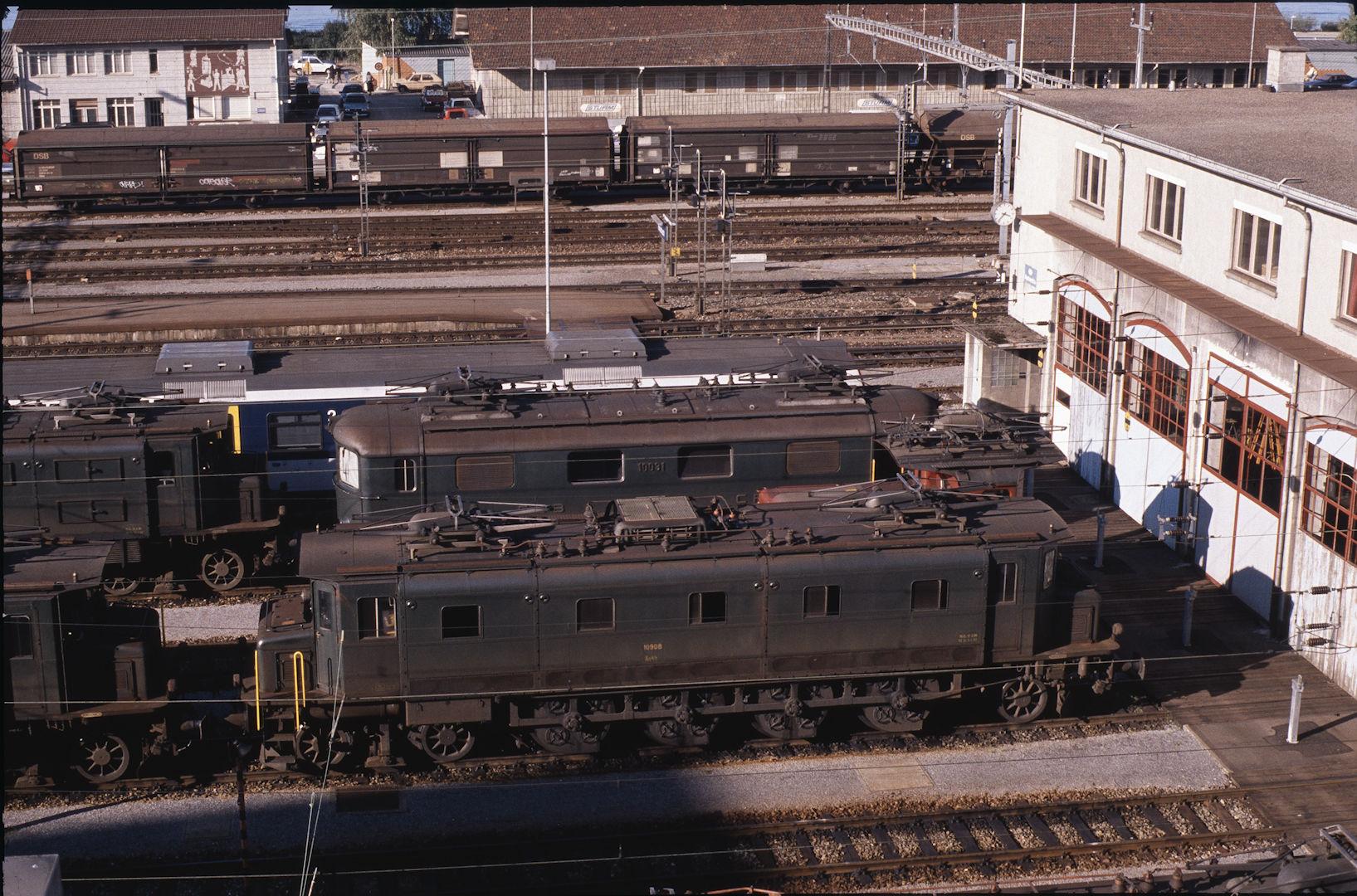 Schweizer bundesbahn baureihe ae4 7 for Depot konstanz